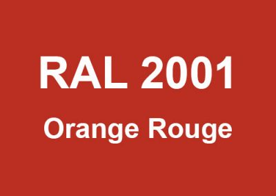 RAL 2001 - Orange Rouge